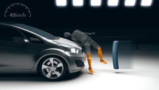 Уровень безопасности при ударах по нижней части ног