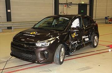 Official Kia Rio safety rating