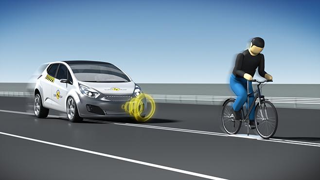 Системы автономного экстренного торможения (AEB) для защиты велосипедистов