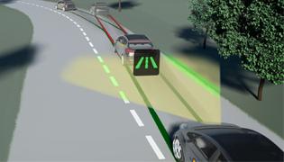 Система удержания автомобиля на полосе движения