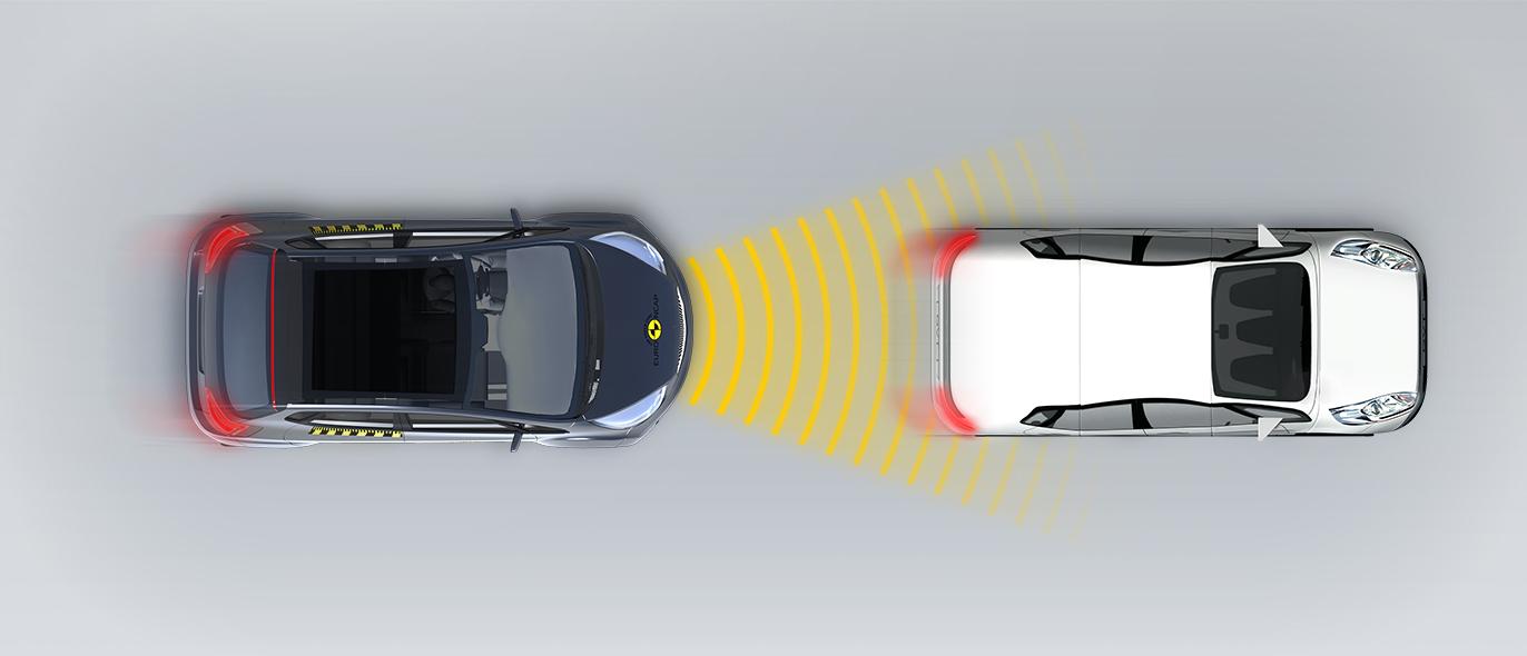 Сближение с автомобилем, выполняющим торможение