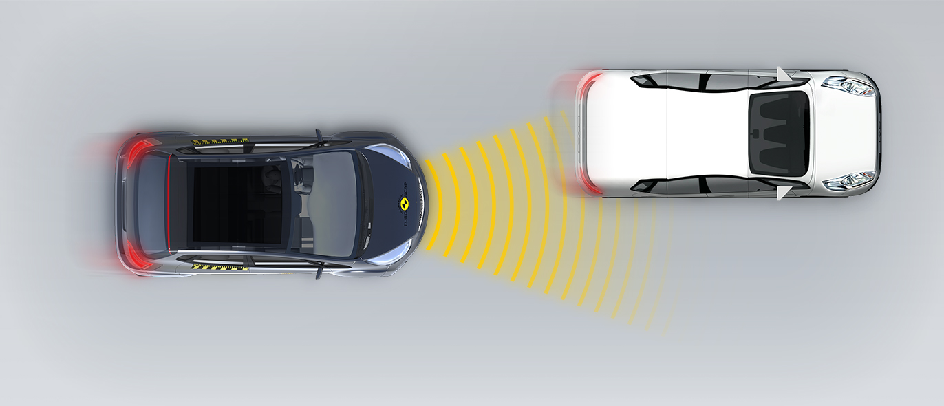 Сближение с автомобилем, движущимся с меньшей скоростью со смещением вправо