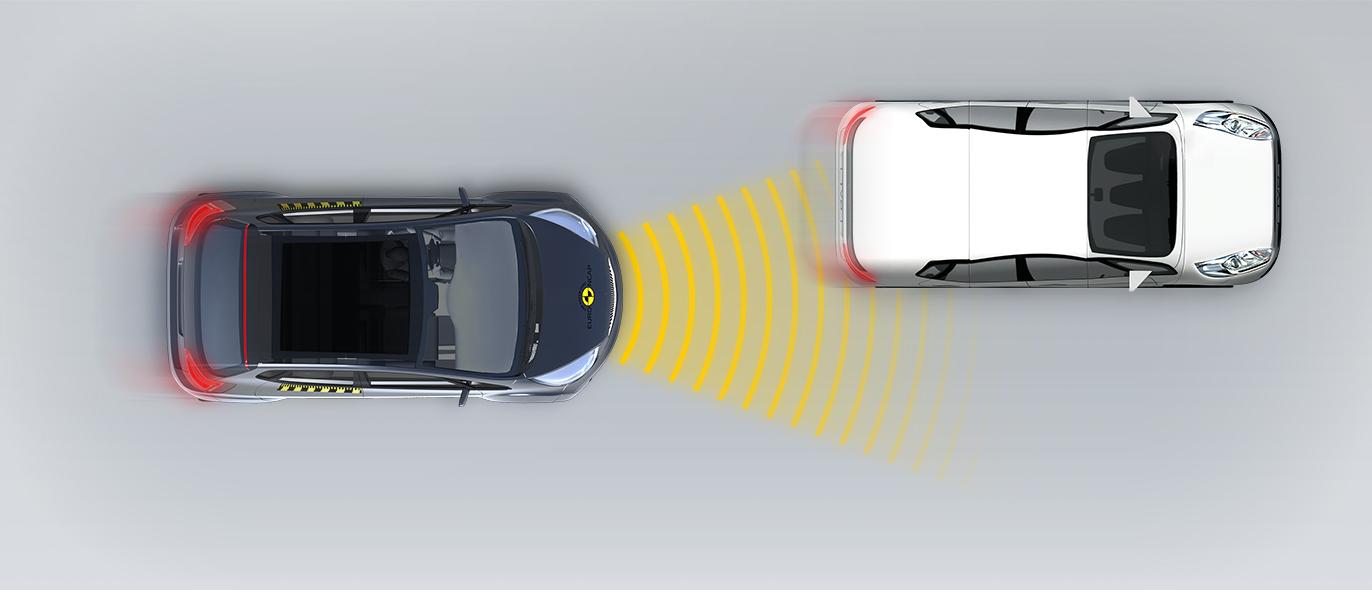 Aproximación a un vehículo más lento Derecha con solape parcial