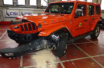 Official Jeep Wrangler safety rating