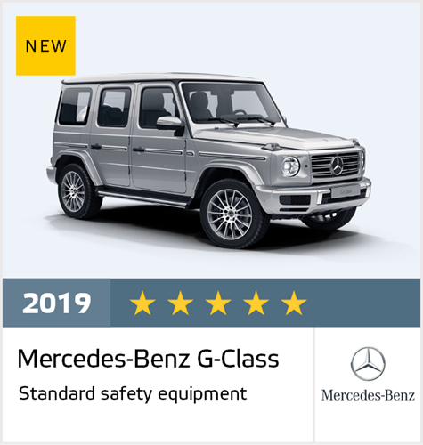 Official Mercedes-Benz G-Class 2019 safety rating