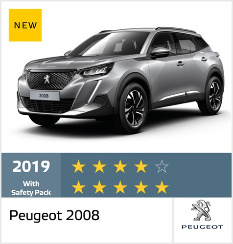 Peugeot 2008 standard equipment - Euro NCAP Results December 2019 - 4 stars