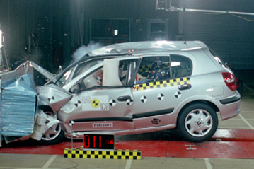 Official Nissan Almera 2001 safety rating