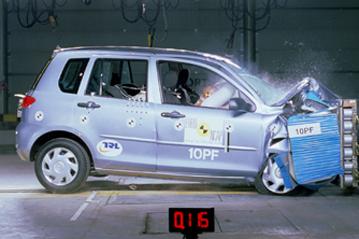 offizielle sicherheitsbewertung mazda 2 2003